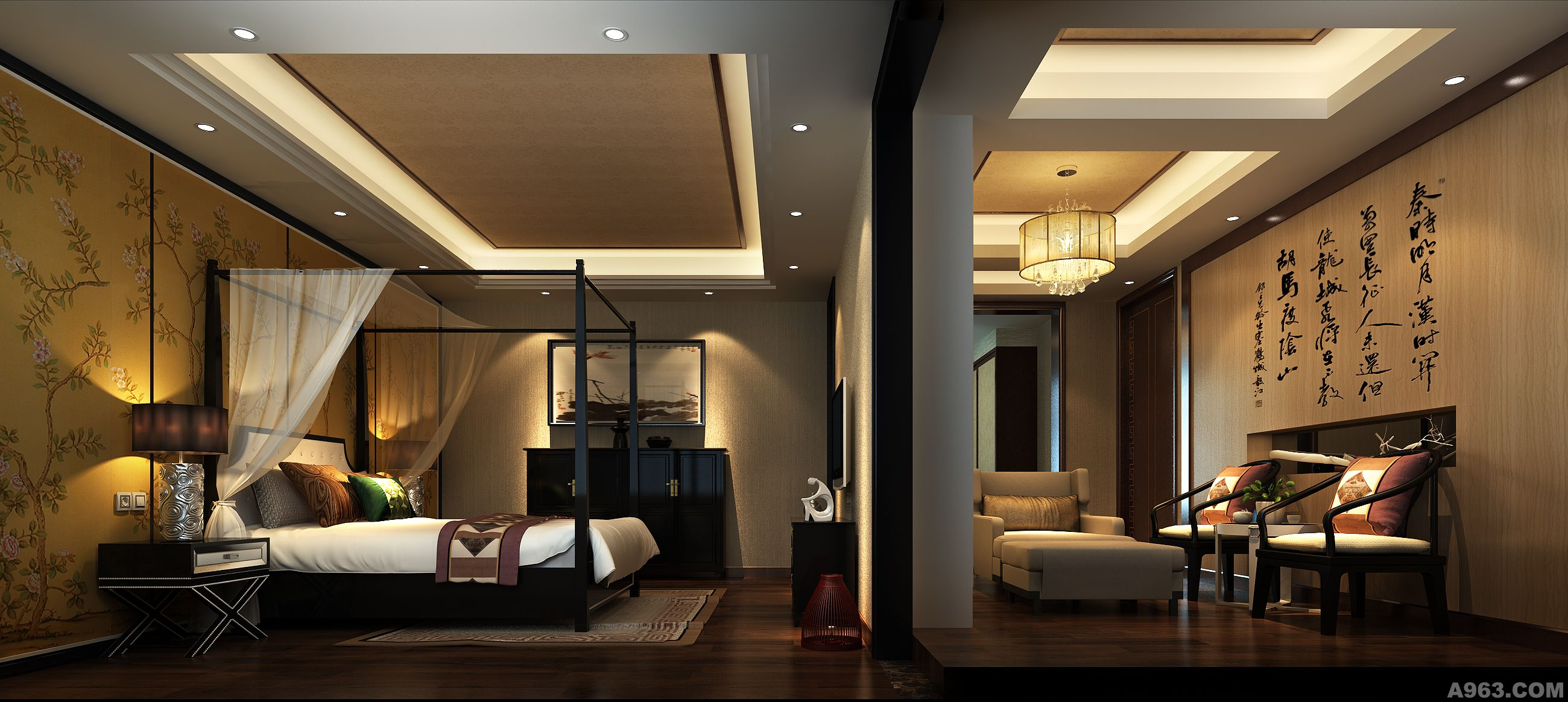 新中式 - 家装设计 - 东莞室内设计网_东莞室内设计