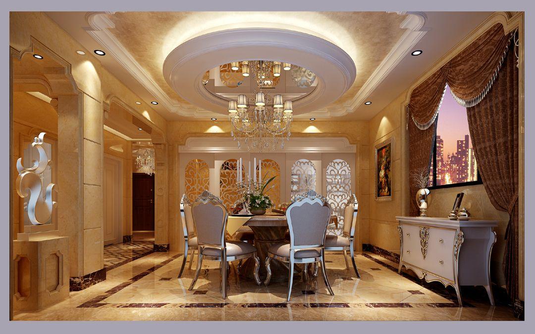 室内家具主要以简约的法式风格为