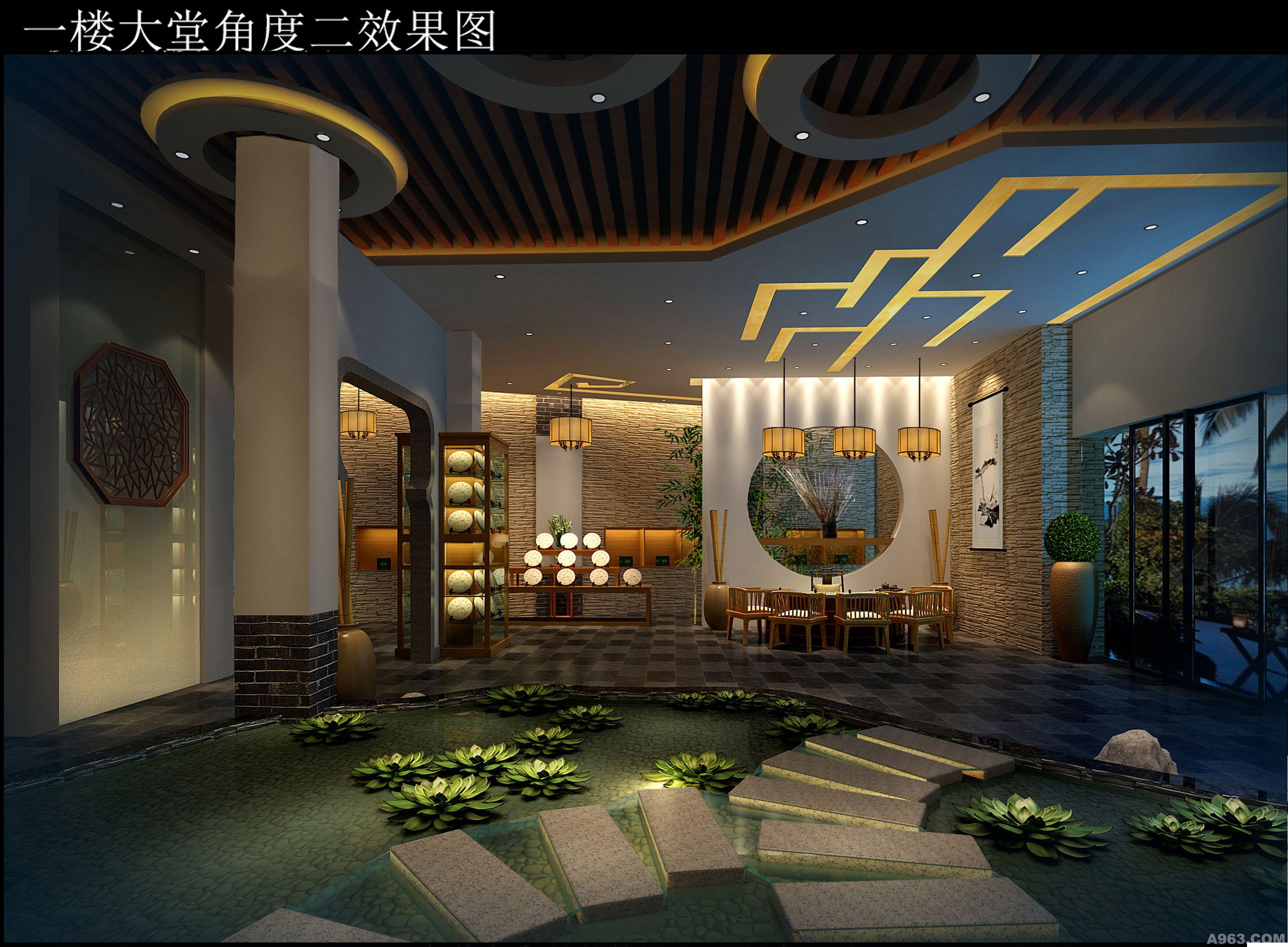 中华室内设计网 作品中心 公共空间 茶艺茶馆 > 熊超作品