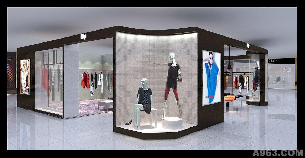 深圳lilly女装展示效果图 - 展示空间 - 东莞室内设计