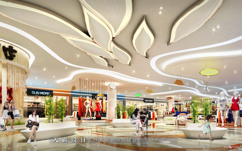 购物中心装修设计效果图独特风情的设计作品分享天霸设计说明