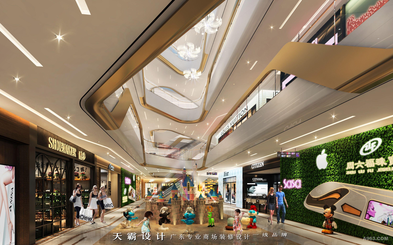 商场装修设计效果图欢迎欣赏天霸设计中庭创意设计说明